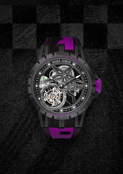 DBEX0669-Excalibur Spider Pirelli鏤空飛行陀飛輪,價值新台幣5,150,000元-紫
