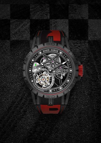 DBEX0669-Excalibur Spider Pirelli鏤空飛行陀飛輪,價值新台幣5,150,000元-紅