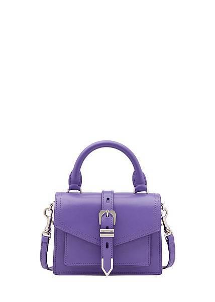 Versus Versace Buckle紫色牛皮提包 $17,500