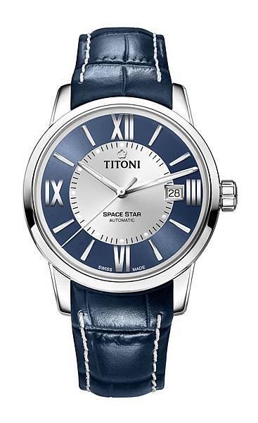 圖8.TITONI SPACESTAR天星系列_藍銀相間錶盤款_建議售價NT$35,300