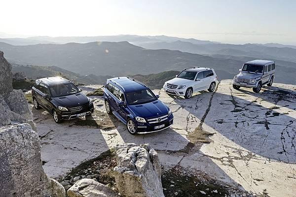 經過數十年的發展, G-Class的技術結晶延伸出Mercedes-Benz豪華休旅家族