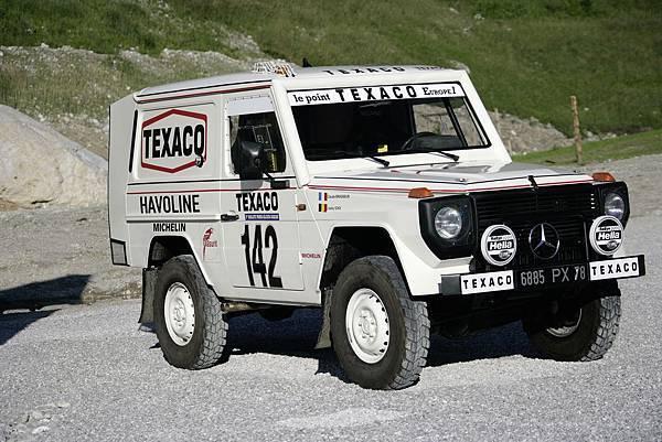 1983年由Jaky Ickx所駕駛的280 GE順利奪得達卡越野沙漠大賽冠軍,向世界宣示無可置疑的強悍性能,自此G-Wagen越野盛名達到高峰