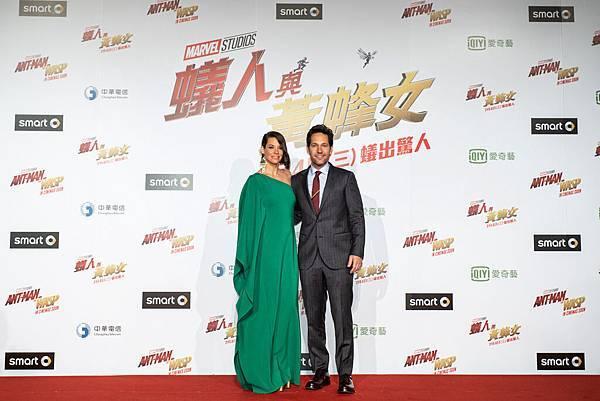 漫威影業成立十周年,特地派出飾演「蟻人」的火紅男星保羅路德與飾演「黃蜂女」的知名女星伊凡潔琳莉莉來台宣傳