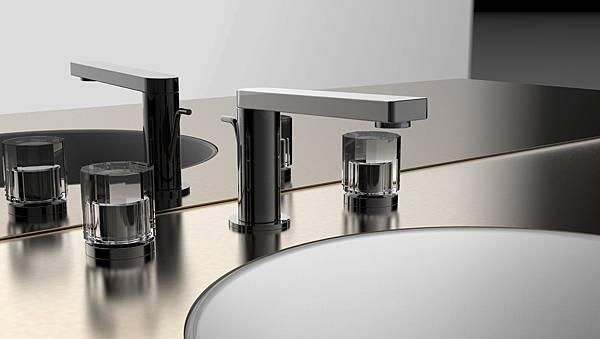 _KOHLER ComposedR系列 8吋面盆龍頭-配水墨灰琉璃把手 建議售價63,000元.jpg