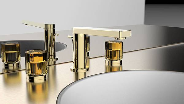 _KOHLER ComposedR系列 8吋面盆龍頭-配琥珀金琉璃把手 建議售價63,000元.jpg