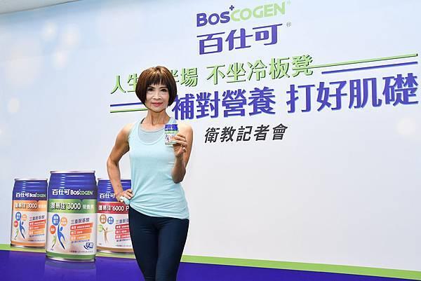「強肌力教主」彭淑美老師表示養復肌力要從營養、運動同時著手,建議每天補充關鍵蛋白質。.jpg