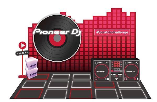 Pioneer DJ打造賽前最佳打卡聖地 擬真DJ台、近3米高唱盤讓電音迷化身DJ大過乾癮!.jpg