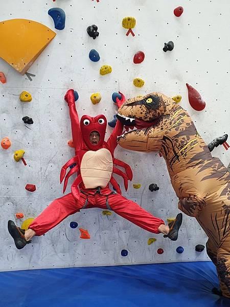 奇寶恐龍目前到台中攀岩場直播吸引將近二萬人觀看 相當驚人! Dapro攀岩場提供.jpg