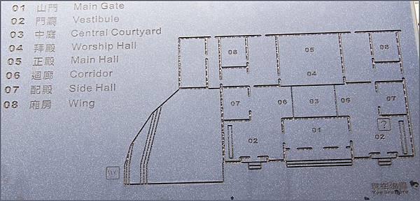 桃園龜山壽山巖觀音寺的建築格局圖