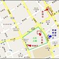 桃園市景福宮、文昌廟、文昌公園、明德宮與市立圖書館的周邊導覽地圖