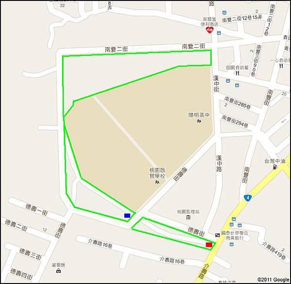 桃園市玉山公園 - 周邊導覽地圖