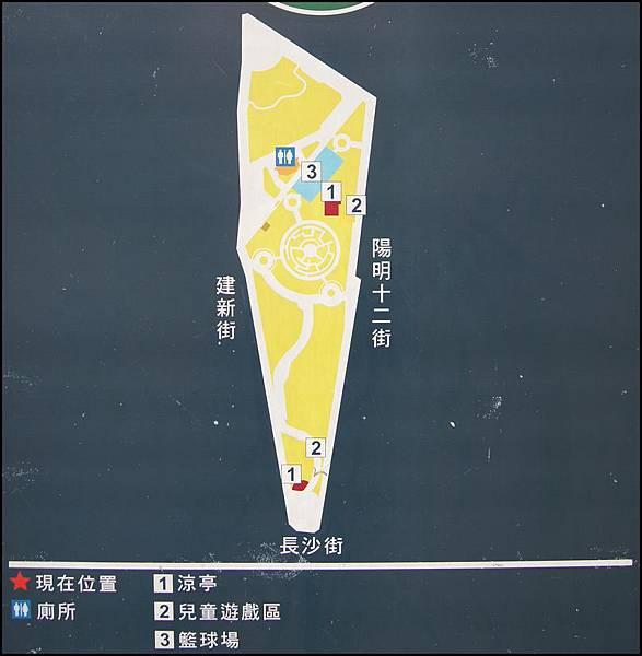 桃園市建新公園全區配置平面圖