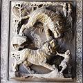 桃園慈護宮 -《三川殿》步口廊兩側的虎門堵