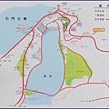 桃園龍潭石門水庫風景區 - 自行車道路線導覽圖