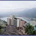 福華渡假別館 - 窗外的石門水庫後池美景
