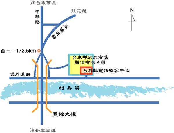 台東縣流浪犬收容中心位置圖