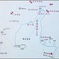 新竹縣新埔鎮燒炭窩古道的步道路線圖