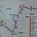 新竹縣山線自行車道的路線導覽地圖(越野路線)
