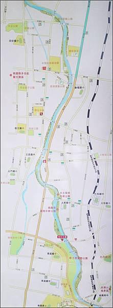 桃園南崁溪水岸自行車道的旅遊地圖