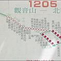 三重客運 1025 凌雲寺往返北門站的公車路線圖.jpg
