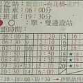 三重客運 1025 凌雲寺往返北門站的圖例&發車時刻表