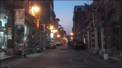 桃園大溪-和平老街的夜景