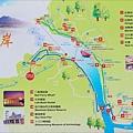 淡水河岸自行車道導覽地圖