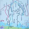 台北縣八里鄉社區免費巴士的城巴路線圖