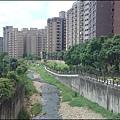 蘆竹吉祥河濱公園 - 從南祥橋上俯覽大坑溪景