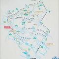 桃園龍潭三坑至風櫃口的自行車道導覽地圖