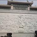 桃園大溪 - 月眉山觀音寺的巨幅觀音浮雕照壁