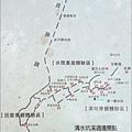 桃園龍潭三坑「清水坑溪」的旅遊路線圖