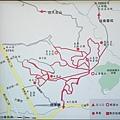 桃園縣蘆竹鄉五酒桶山森林步道的登山路線圖