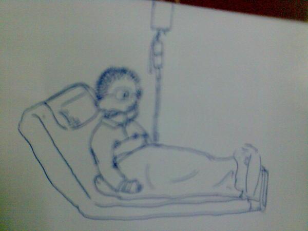 躺在病床的爸爸