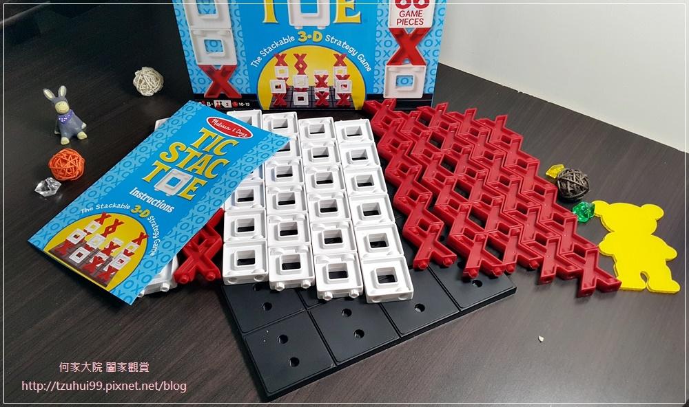 (好玩桌遊分享)美國瑪莉莎Melissa & Doug遊戲-3D戰略桌遊,圈圈疊叉叉 07.jpg