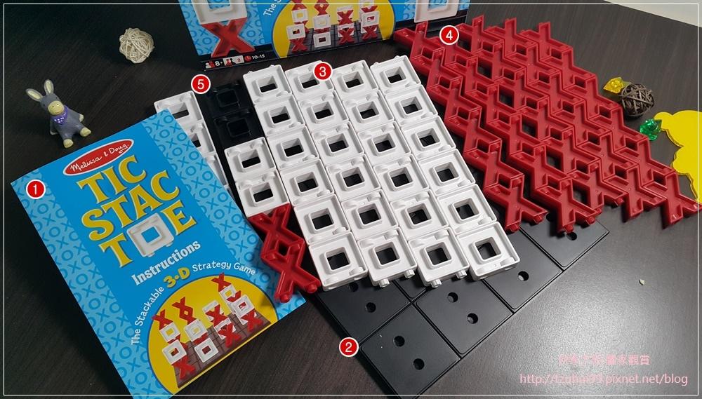 (好玩桌遊分享)美國瑪莉莎Melissa & Doug遊戲-3D戰略桌遊,圈圈疊叉叉 08.jpg