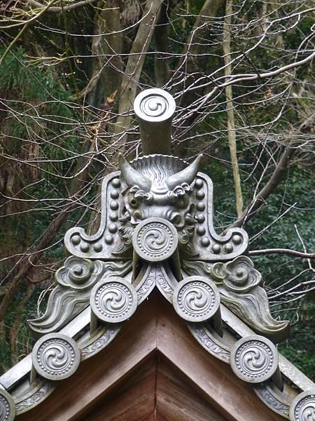 B5京都哲學之道『法然院』建築屋頂上的鬼瓦