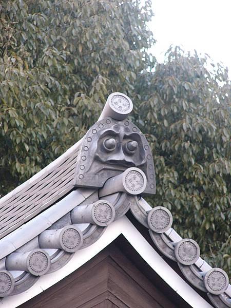 B7奈良『唐招提寺』內建築物上造型古樸有趣的鬼瓦