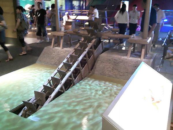龍骨水車模型