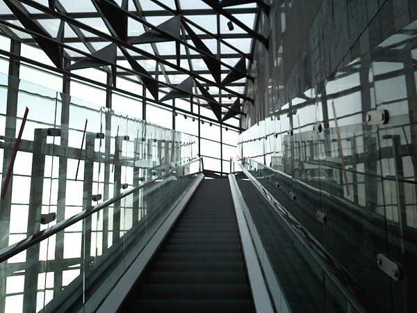 好高的手扶梯...看左邊懸空還會抖