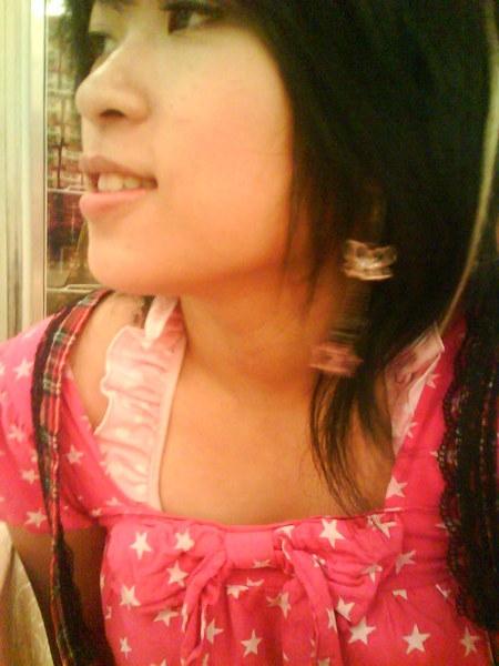 側臉+微笑