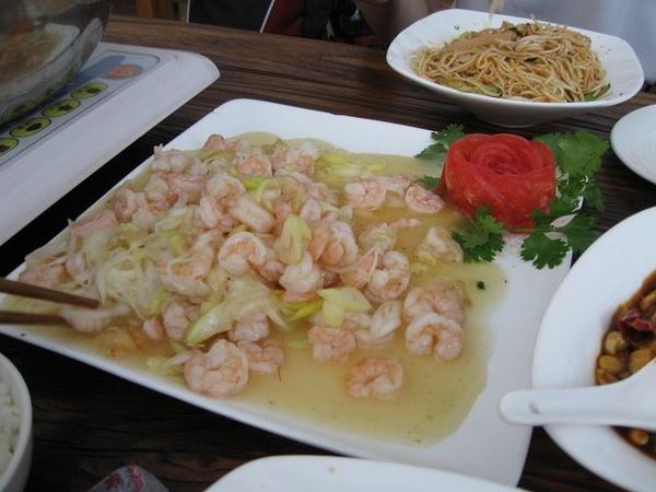 天下鹽-蔥白炒蝦