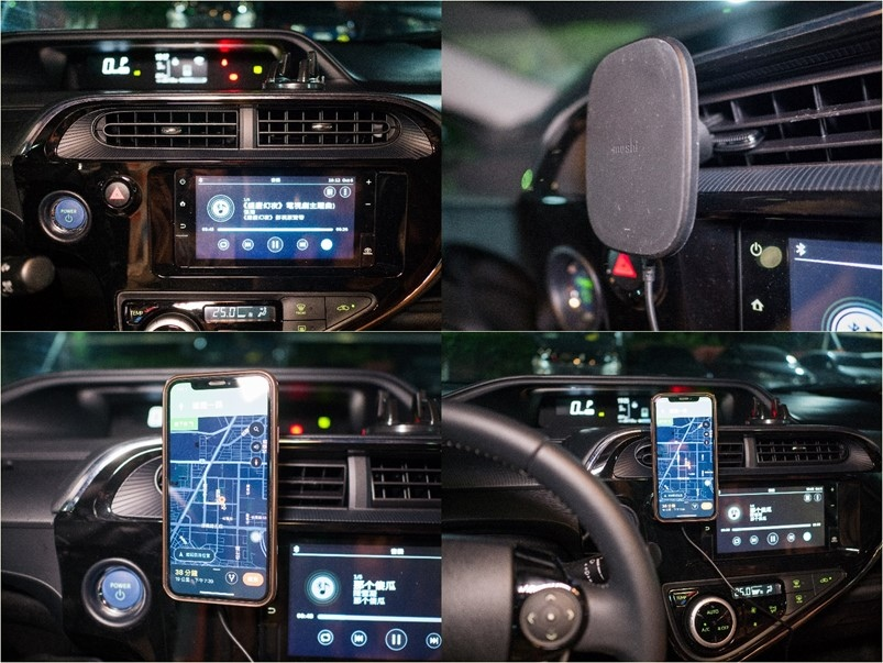 【開箱】Moshi SnapTo 磁吸無線充電手機車用支架,單手操作秒取秒放超方便!無線充電推薦