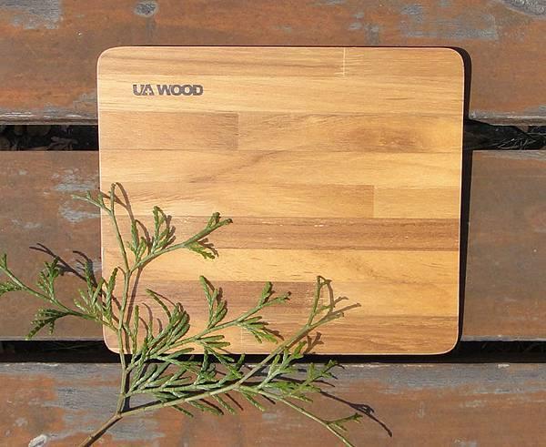 UA WOOD能量健康幾何美多拼木滑鼠墊(柚木)