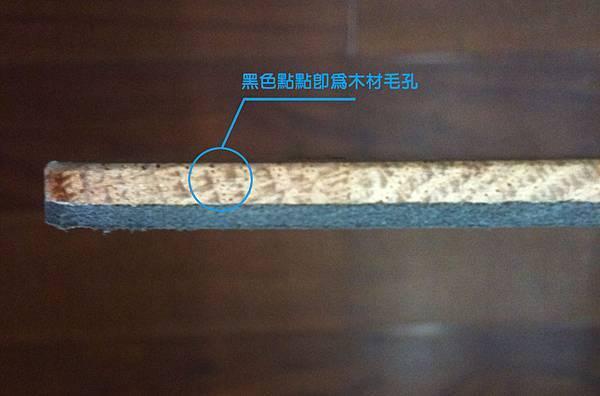 紅橡木材毛孔
