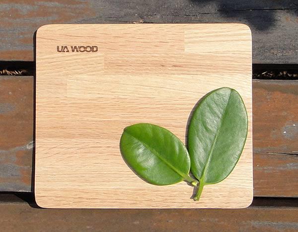 UA WOOD能量健康幾何美多拼木滑鼠墊