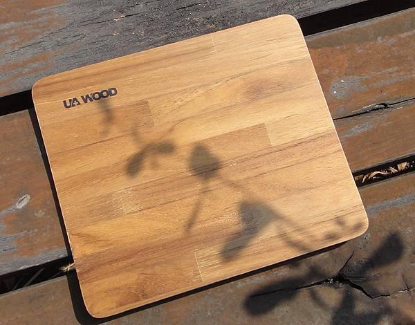 UA WOOD柚木幾何美拼接木滑鼠墊
