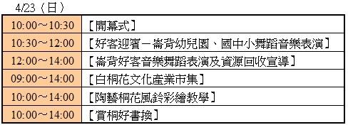 桐花季分享文-崙背節目表