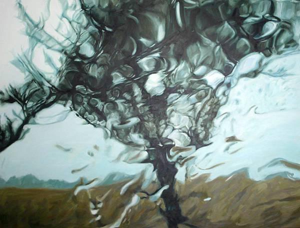 王綺穗 雨之風景VI Rainscape_VI 油彩、畫布 90x250cm 2009