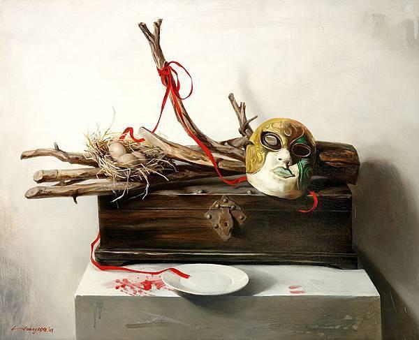 黃坤伯 靜物語錄-偽善者72 x91cm-2003年